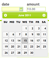 A screenshot of the new calendar interface.
