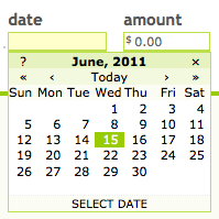 A screenshot of the old calendar interface.